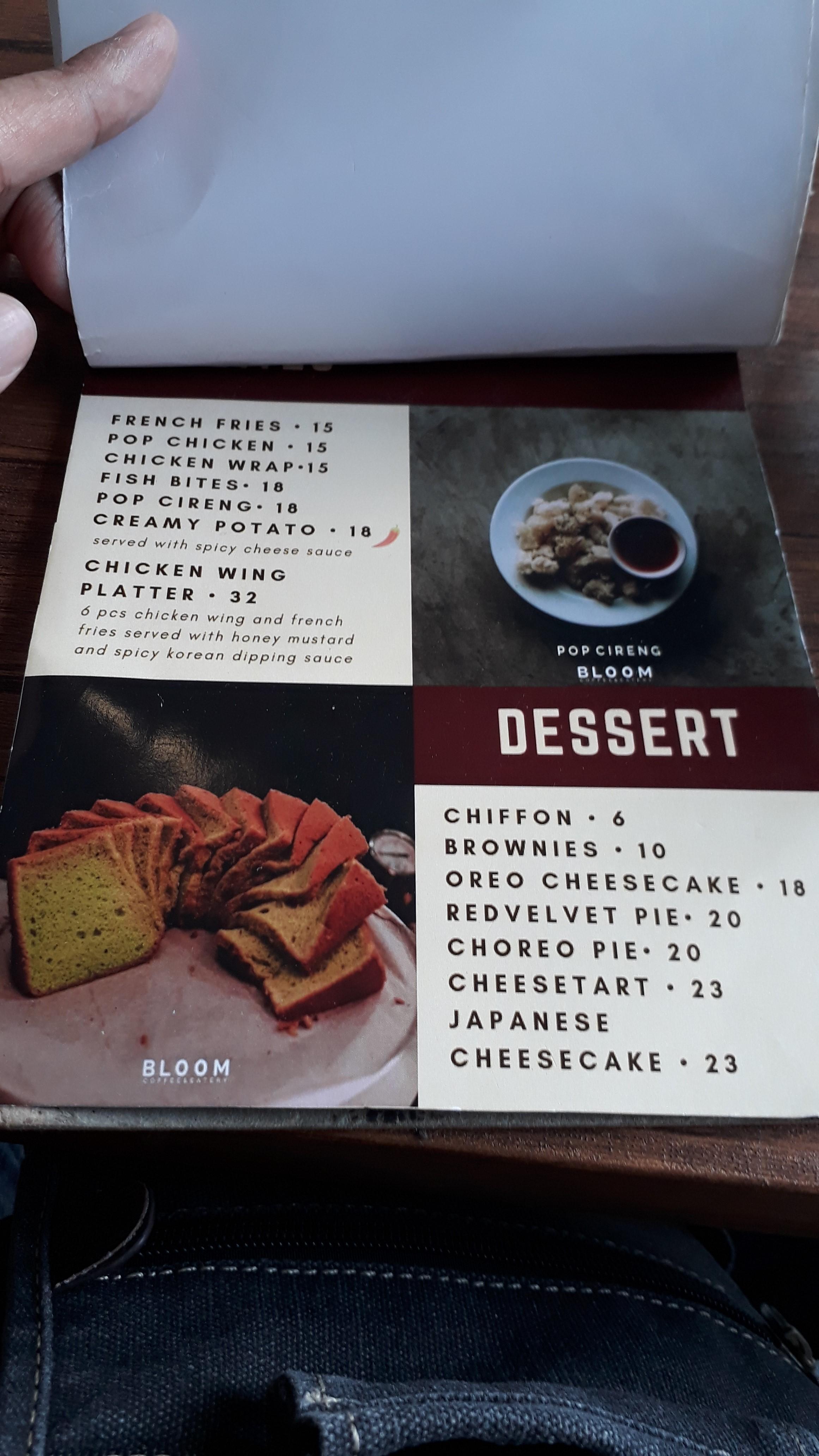 Daftar Menu Boom Coffee & Eatery Lengkap