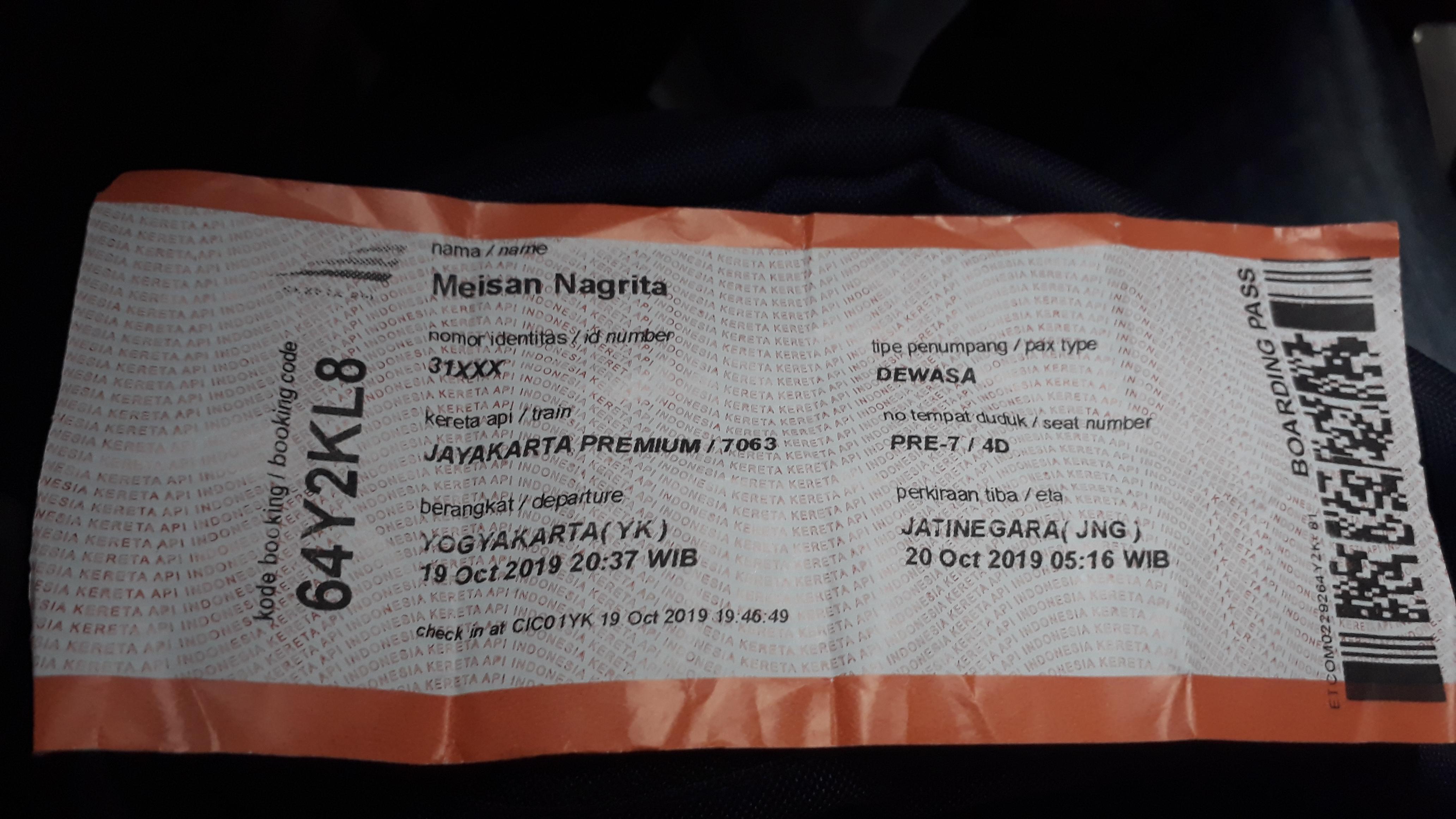 Kereta Api Jayakarta Premium Jurusan Gubeng Sampai Stasiun Kota