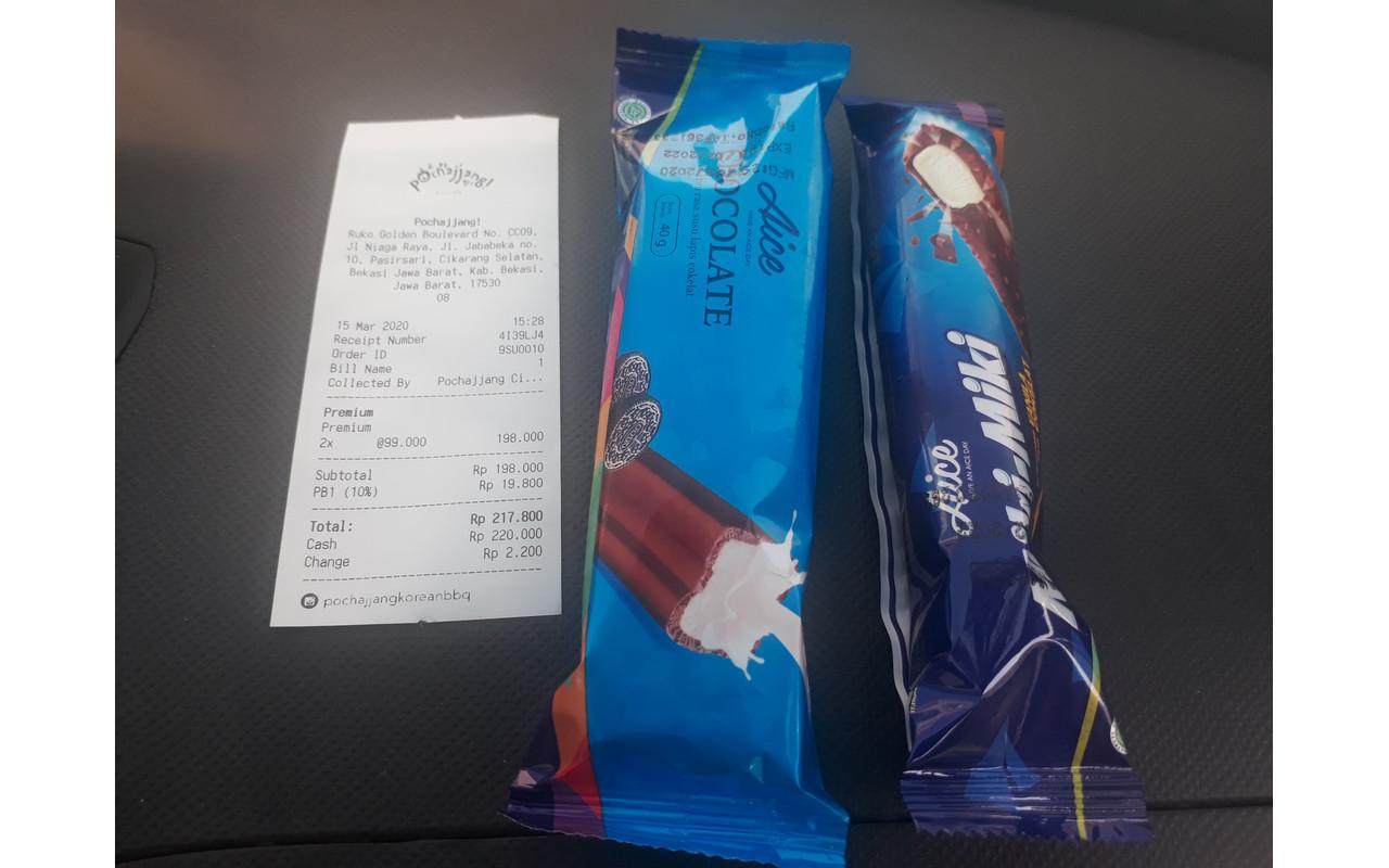 Bonus es krim dan nota pembelian