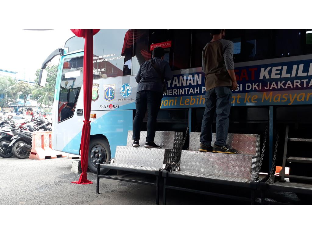 Cara Perpanjangan STNK tahunan di Samsat Jakarta Pusat Komdak